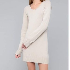 Like new cream long sleeve crewneck sweater dress